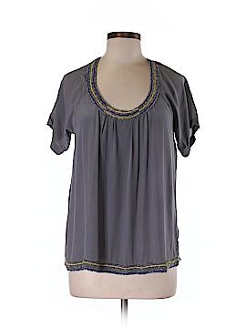 Hy & Dot Short Sleeve Silk Top Size XS