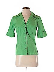 Trina Turk Women 3/4 Sleeve Button-Down Shirt Size P