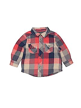 Joe Fresh Short Sleeve Button-Down Shirt Size 6-12 mo