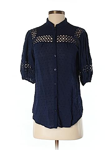 Edme & Esyllte Short Sleeve Button-Down Shirt Size 2