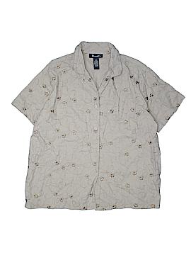 Denim Co Short Sleeve Button-Down Shirt Size 1X (Plus)