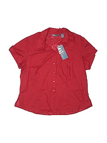 Hillard & Hanson Short Sleeve Button-Down Shirt Size XL