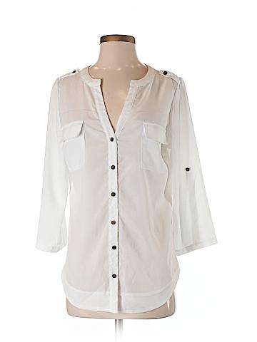 41Hawthorn 3/4 Sleeve Button-Down Shirt Size S