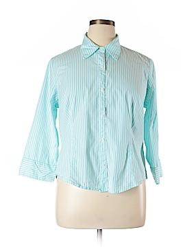 Villager Sport by Liz Claiborne 3/4 Sleeve Button-Down Shirt Size 16
