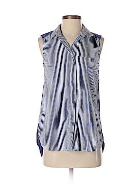 Halogen Sleeveless Button-Down Shirt Size XS