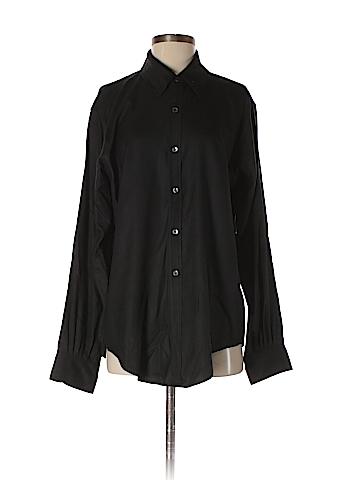 Crippen Long Sleeve Silk Top Size M