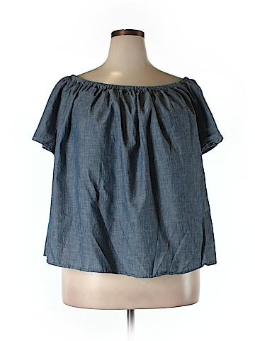 Gap Outlet Short Sleeve Blouse Size XXL