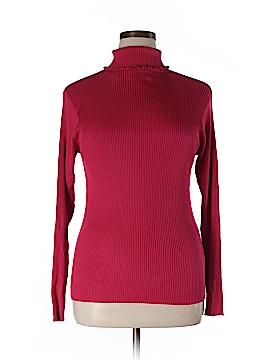 Susan Bristol Long Sleeve Silk Top Size XL