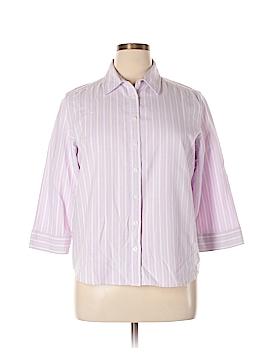 Karen Scott Long Sleeve Button-Down Shirt Size XL