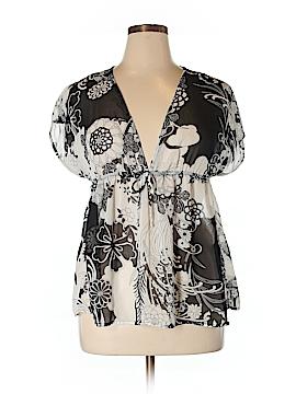 I.N. Studio Short Sleeve Blouse Size XL (Petite)