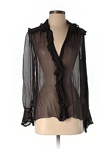 Missoni Long Sleeve Silk Top Size 42 (IT)