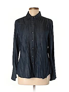 Coldwater Creek Long Sleeve Button-Down Shirt Size M (Petite)