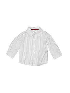 F.A.O Schwarz Long Sleeve Button-Down Shirt Size 12 mo