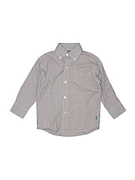 Cotton Blu Long Sleeve Button-Down Shirt Size 3T