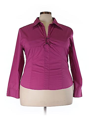Antilia Femme Long Sleeve Blouse Size 3X (Plus)