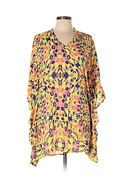Vix by Paula Hermanny Short Sleeve Blouse Size L