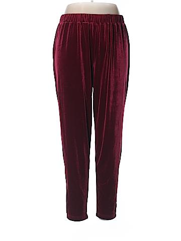 Denim 24/7 Velour Pants Size 1X (Plus)