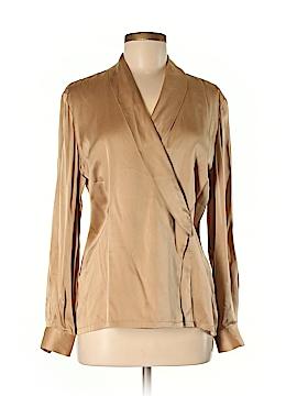 Dana Buchman Long Sleeve Silk Top Size 6