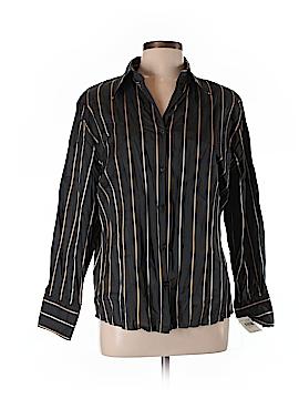 Basler Long Sleeve Button-Down Shirt Size 44 (EU)