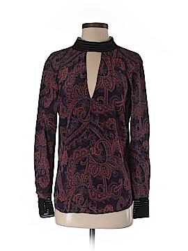 Veronica Beard Long Sleeve Silk Top Size 2