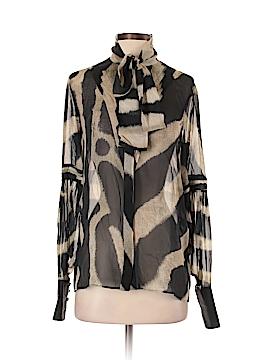 Just Cavalli Long Sleeve Silk Top Size 38 (IT)