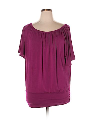 Storm Short Sleeve Top Size 1X (Plus)