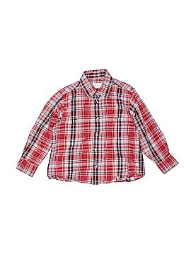 Jacadi Long Sleeve Button-Down Shirt Size 4
