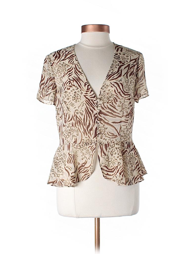 Studio 1 Women Short Sleeve Blouse Size 10