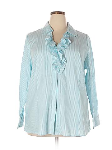 Lane Bryant Long Sleeve Button-Down Shirt Size 22 Plus (5) (Plus)
