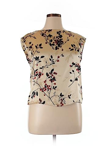 Jones New York Short Sleeve Silk Top Size 14
