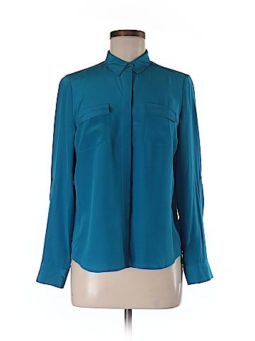 Ann Taylor LOFT Long Sleeve Silk Top Size 8 (Petite)
