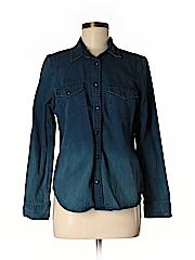 Gap Women Denim Jacket Size M (Petite)
