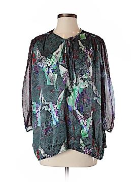 Custo Barcelona 3/4 Sleeve Silk Top Size Lg (4)