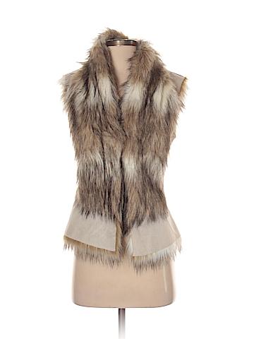 Zara Basic Faux Fur Vest Size XS