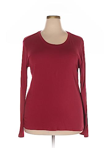 Ellen Tracy Long Sleeve T-Shirt Size 2XL (Plus)