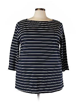 Ava & Viv 3/4 Sleeve T-Shirt Size 3X (Plus)
