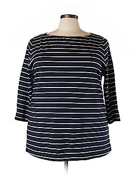 Ava & Viv 3/4 Sleeve T-Shirt Size 2X (Plus)