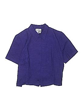 Sheri Martin New York Woman Short Sleeve Button-Down Shirt Size 16W