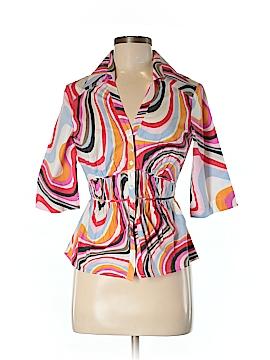 NaraCamicie 3/4 Sleeve Button-Down Shirt Size 6 (II)