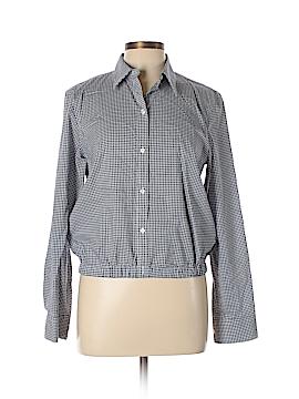 Champs Long Sleeve Button-Down Shirt Size L