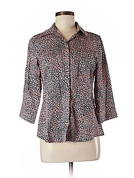 Foxcroft 3/4 Sleeve Button-Down Shirt Size 6 (Petite)