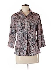 Foxcroft Women 3/4 Sleeve Button-Down Shirt Size 6 (Petite)