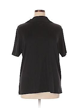 Elisabeth by Liz Claiborne Short Sleeve Silk Top Size 1X (Plus)