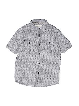 Paper Denim & Cloth Short Sleeve Button-Down Shirt Size 4