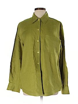 Linda Allard Ellen Tracy Long Sleeve Button-Down Shirt Size 16