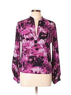 Aaron Ashe Long Sleeve Silk Top Size M