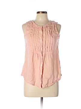 Lands' End Sleeveless Button-Down Shirt Size 10 (Petite)