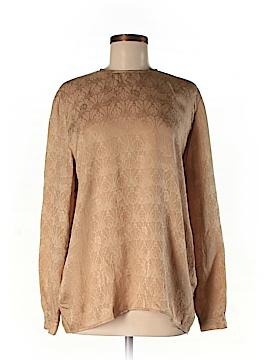 Giorgio Armani Long Sleeve Silk Top Size 10