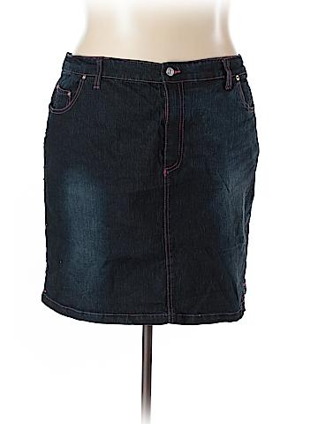 Zoey & Beth Denim Skirt Size 3X (Plus)