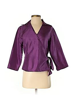 Anne Carson 3/4 Sleeve Silk Top Size M